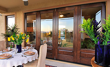 Classic Craft Mahogany Patio Doors