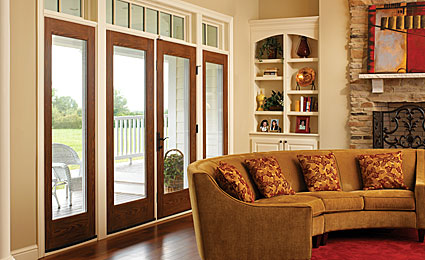 Fiber Classic Oak Patio Doors