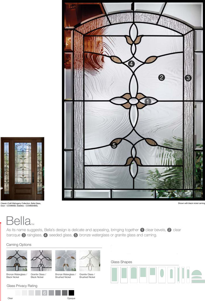 Dashwood Bella Decorative Door Glass Dashwood Inc